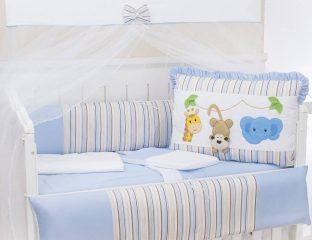 kit berço bichos amiguinhos azul
