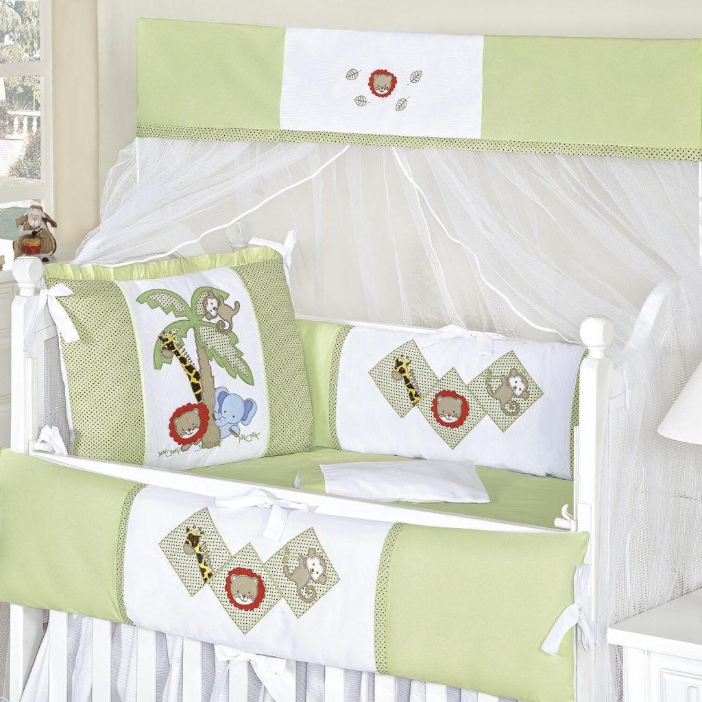 kit berço bichos amiguinhos verde
