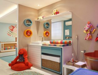 kit berço quartos de bebê coloridos