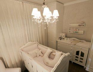 decoração quarto de bebê total branco