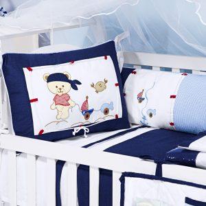 kit berço navy marinho azul marinho