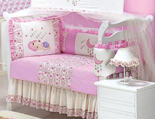 kit berço soninho rosa