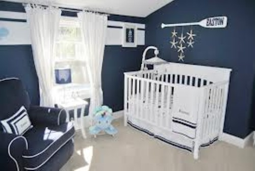 Azul Marinho e Branco a combinação perfeita quartos de meninos