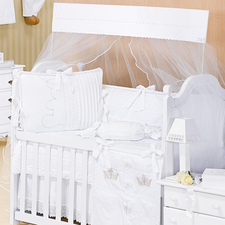 kit berço branco Kingdon para o quarto de bebê - Blog Kit Berço