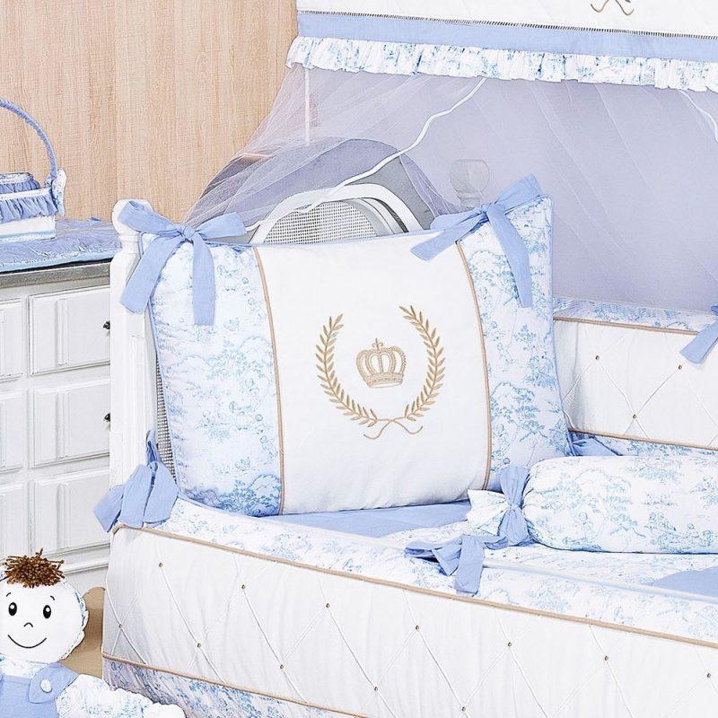 kit berço azul modelo Majestade