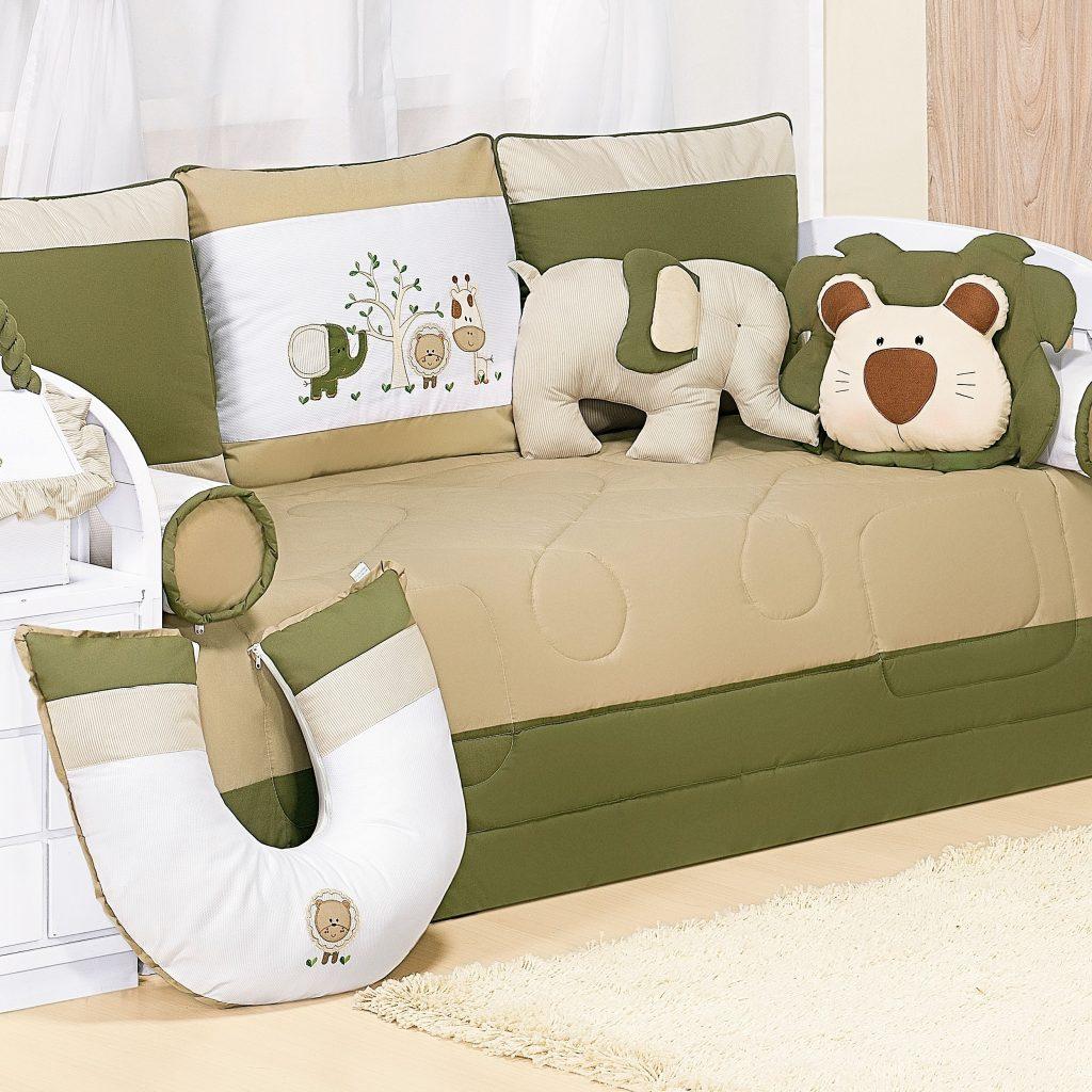 kit cama babá amiguinhos-da-selva