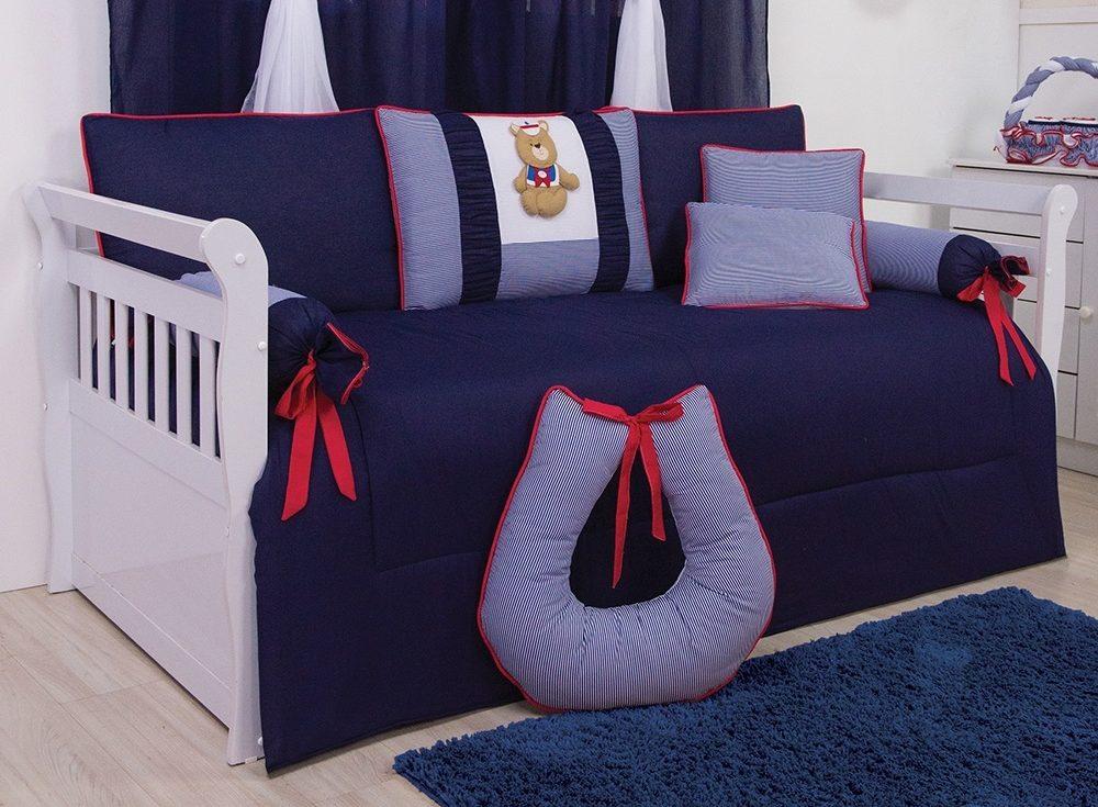 kit cama babá urso-marinheiro