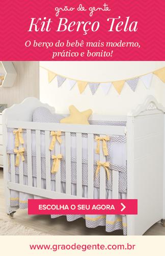 Grão de Gente - Kit Berço Tela: O berço do bebê mais moderno, prático e bonito! Escolha o seu agora!