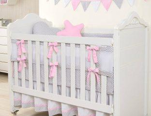 kit berço de tela rosa