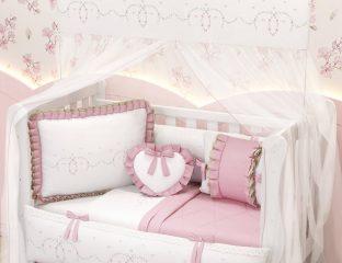kit berço rosa - alice rosa