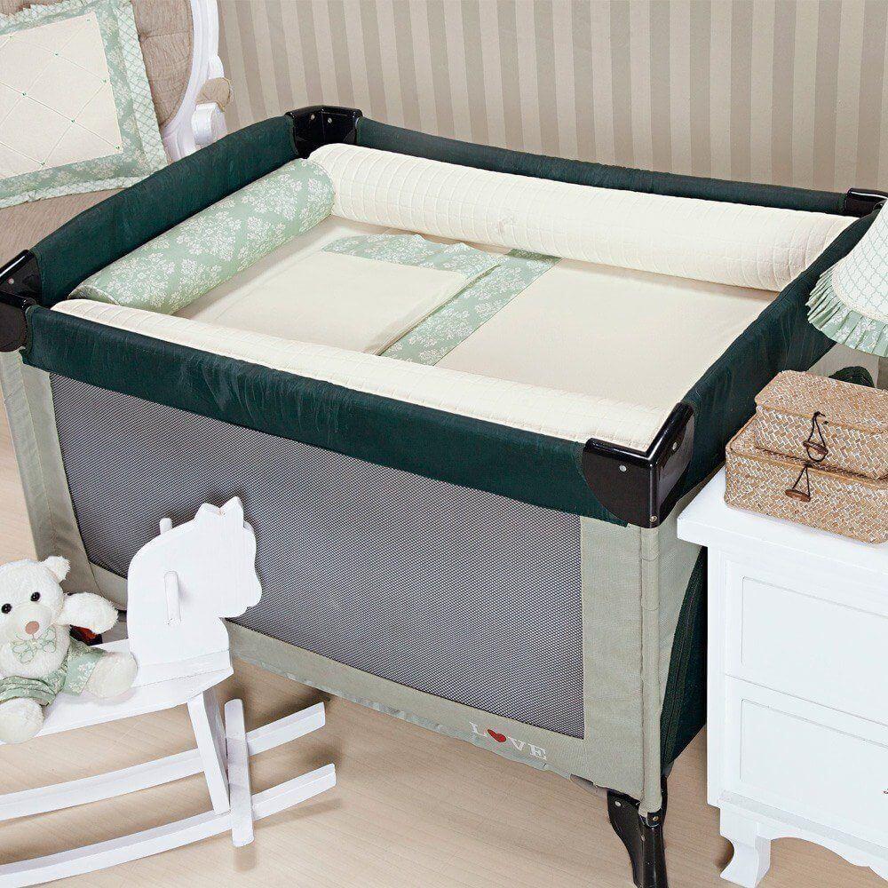 kit para berço desmontável amore verde