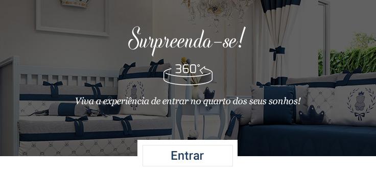 Kit Berço Ursinho Clássico Marinho visita virtual