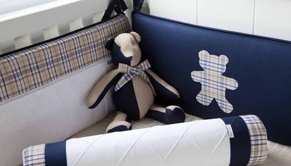 kit berço azul marinho felipe