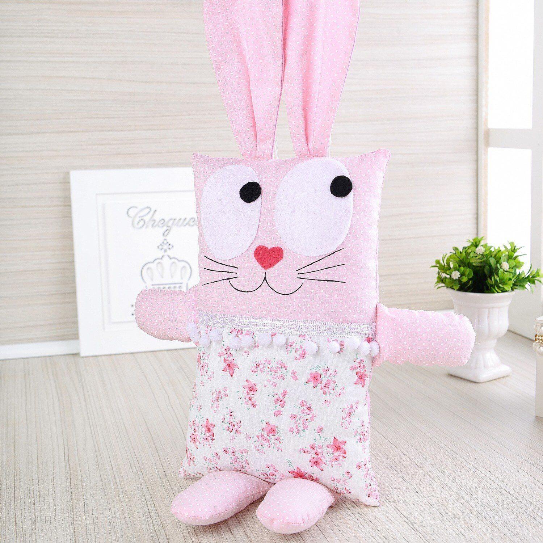 As meninas vão adorar ter este coelhinho rosa como companheiro das sonecas. (Produto Grão de Gente ref.72380)