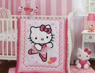 kit berço hello kitty