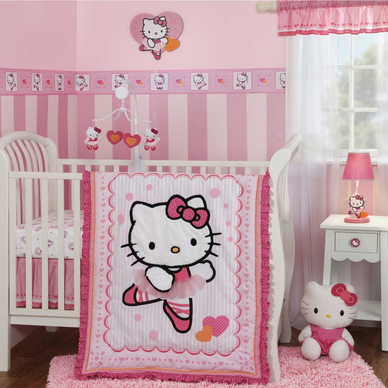 Kit Ber§o Hello Kitty uma gatinha no quarto do bebª Kit Ber§o