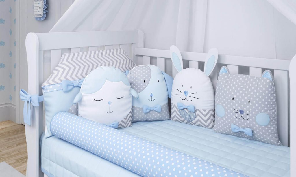 quarto de bebê azul