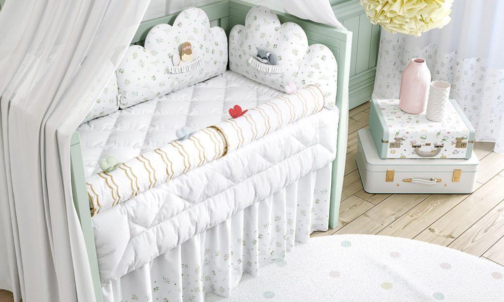 quarto para bebê verde