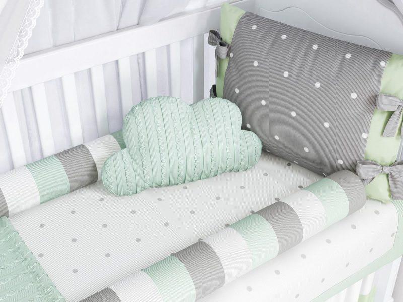 quarto de bebê verde