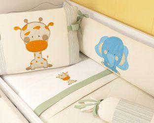 kit berço girafa