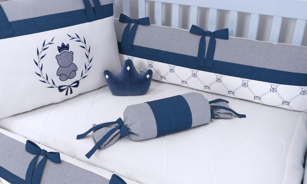 Kit Berço Luxo Azul Marinho