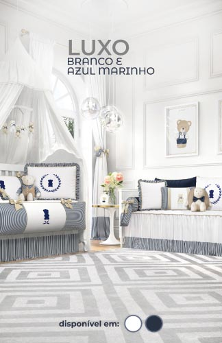 Coleção Luxo Branco e Azul Marinho