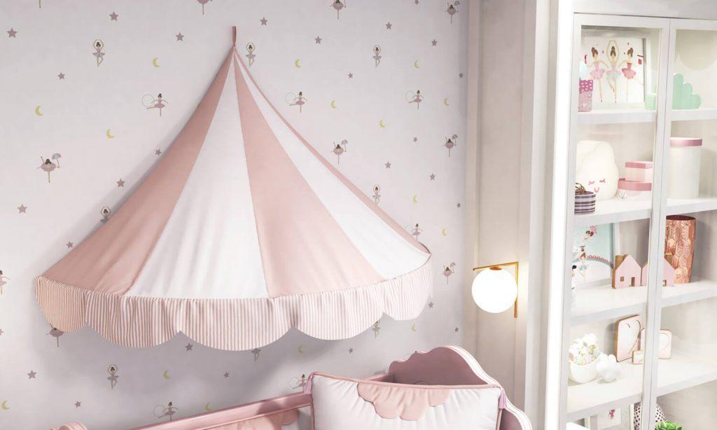 quarto de bebê circo