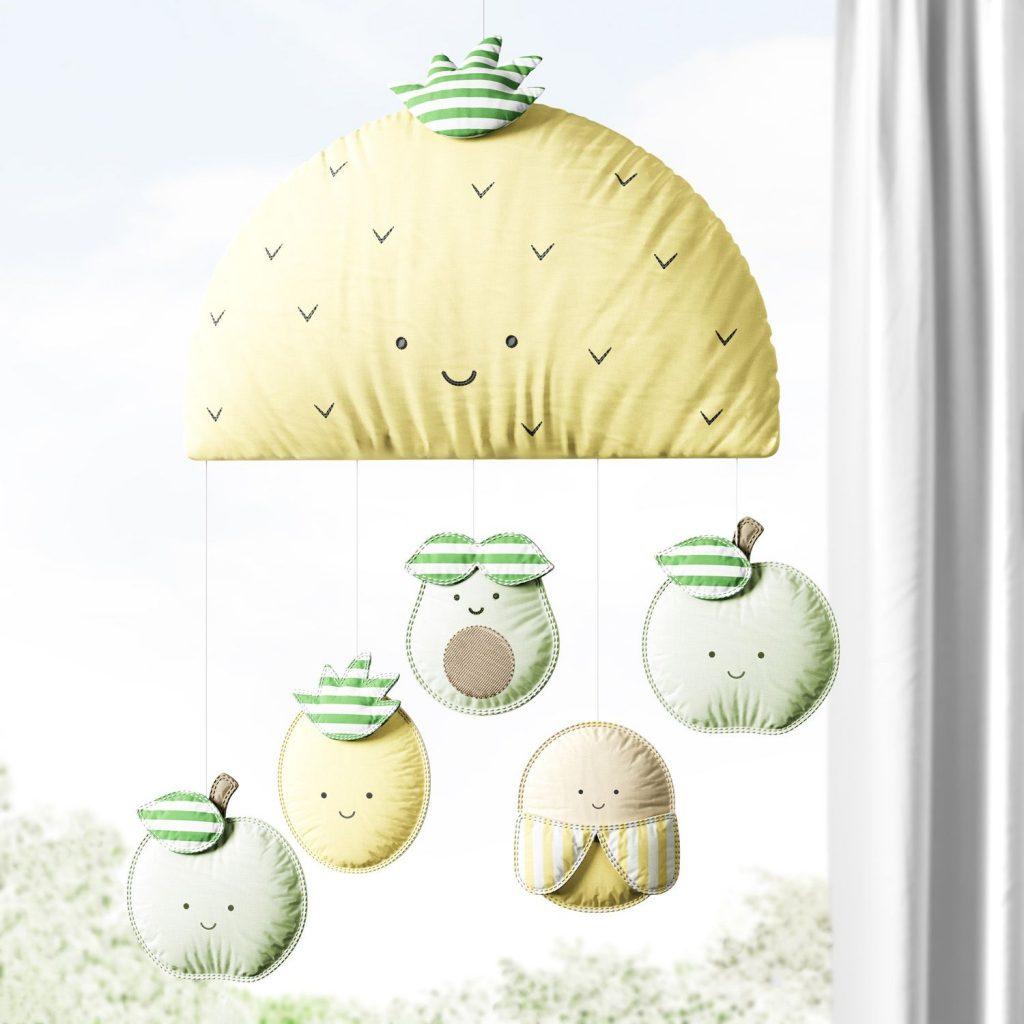 mobile-abacaxi-com-5-frutinhas-amarelo-e-verde-312645